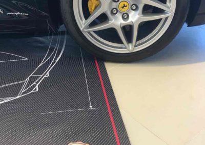 Ferrari and pride mats logo