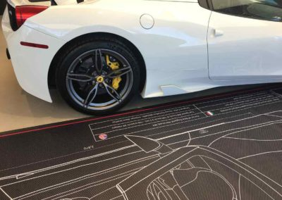 Ferrari blanco